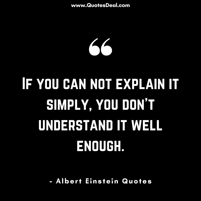 If you can not explain it simply