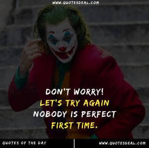 nobody is perfect first time