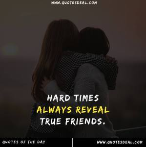 Hard times always reveal