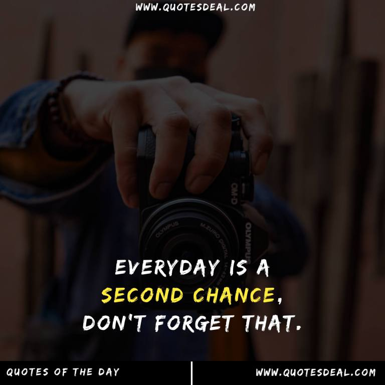 Everyday is a second