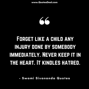 Forget like a child any injury