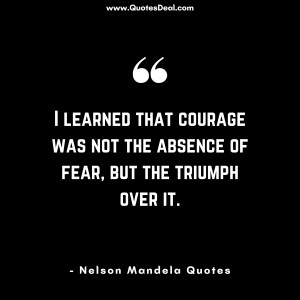 the absence of fear