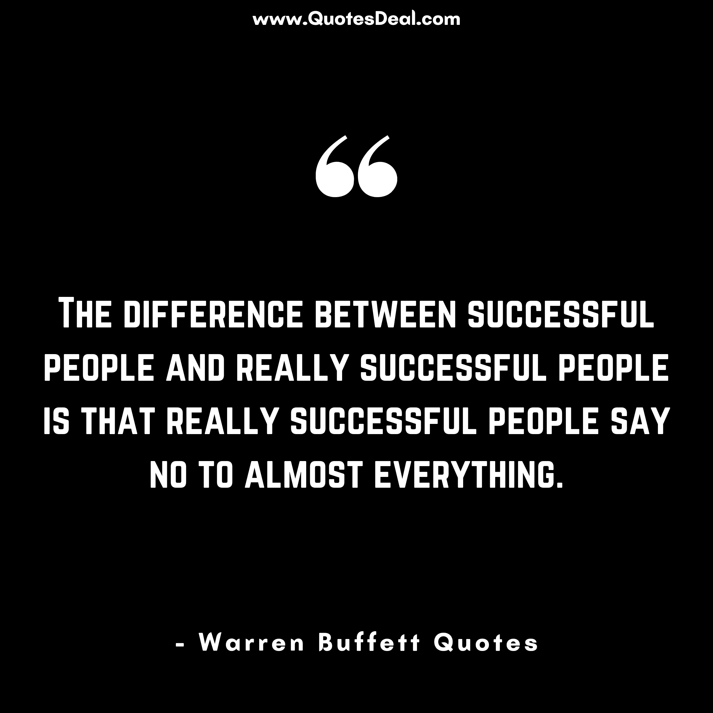 The difference between successful people