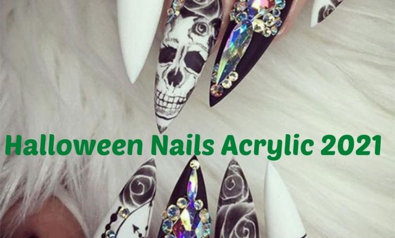 Halloween Nails Acrylic 2021 Images