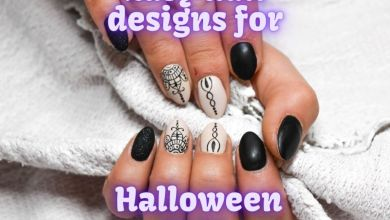 Easy nail designs for Halloween 2021 images