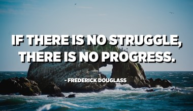 If there is no struggle, there is no progress. - Frederick Douglass