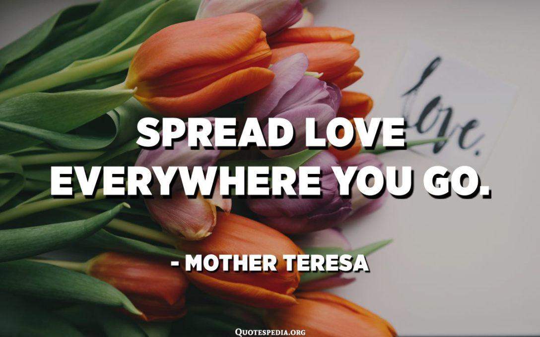 Spread love everywhere you go. - Mother Teresa