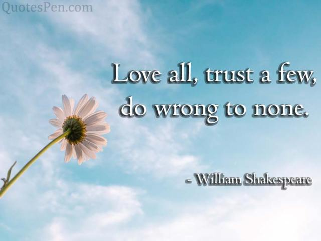 trust a few
