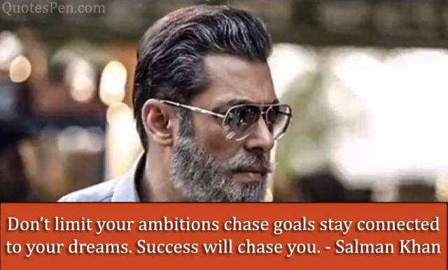 ambitions quote by salman khan