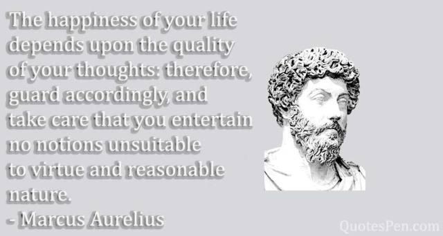 happines-life-quote by Marcus Aurelius