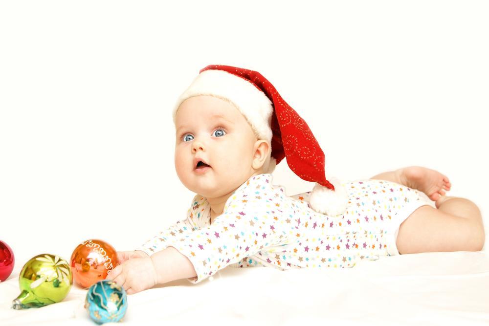Cute baby to wish New Year 2018