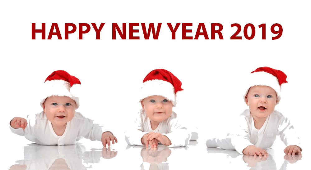 40 Cute Baby Happy New Year 2019 Pics Small Babies Images
