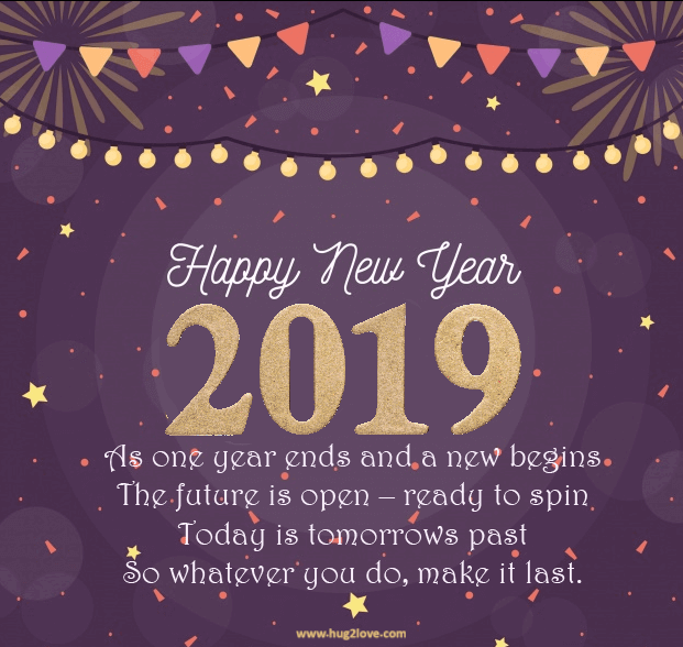 Inspirational New Year 2019 Greeting And Wishes Happy