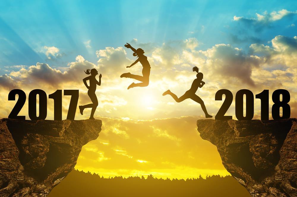 happy new year background 2018