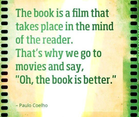 Image result for images quotes - book or film?