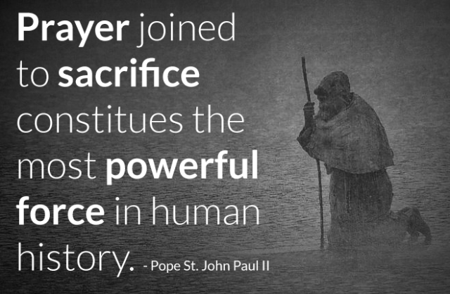prayer joined to saacrifice