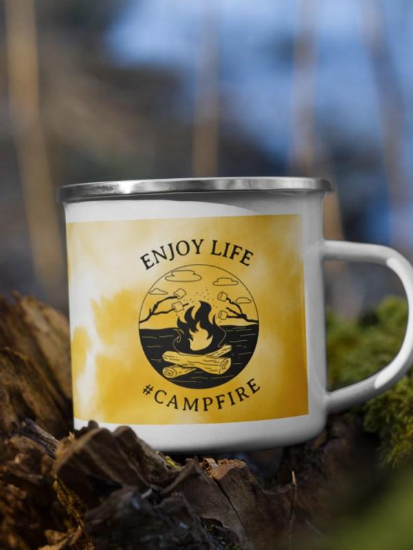 Enamel Mug #campfire
