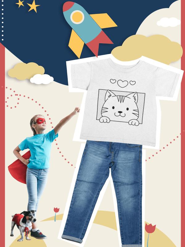 "Sweet ColorIt Tee ""lovely kitten"" for creative girls (Copy)"