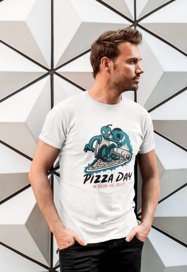 Pizza day tshirt for aliens lover