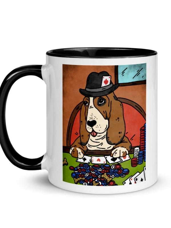 "QArt crasher mug ""Poker Face"""