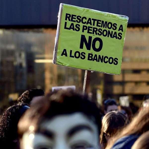 protesta contra bancos