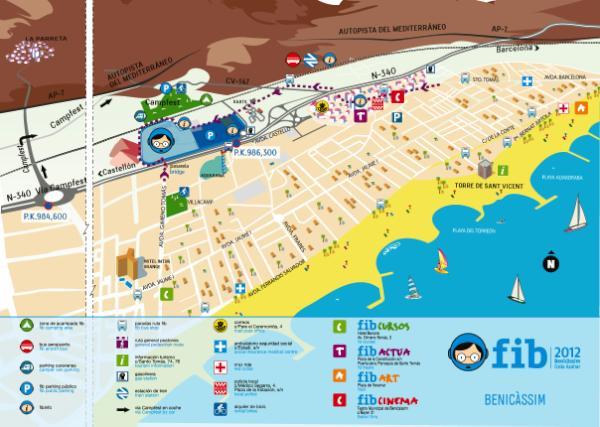 mapa FIB benicassim
