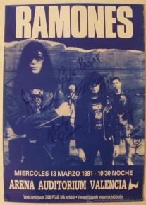 cartel original firmado ramones