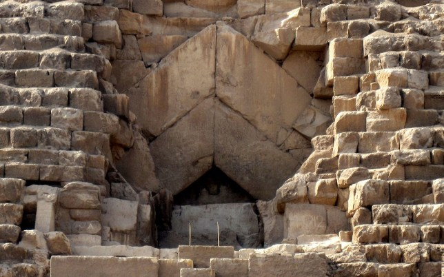 sillares entrada keops egipto