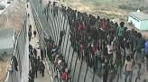 valla asaltada por inmigrantes en ceuta