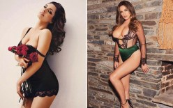 kelly brook doble pose