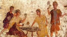 dados-juego-azar-fresco antiguo