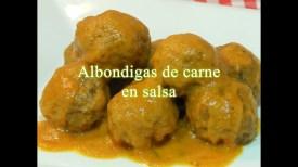 albondigas carne salsa