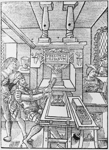 Early Printing Press/Printer Of Paris