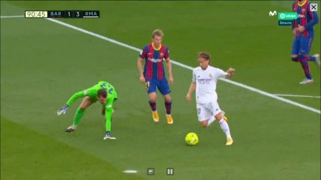 barcelona 1 real madrid 3 mofric