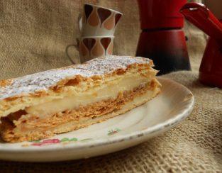 milhojas crema pastelera