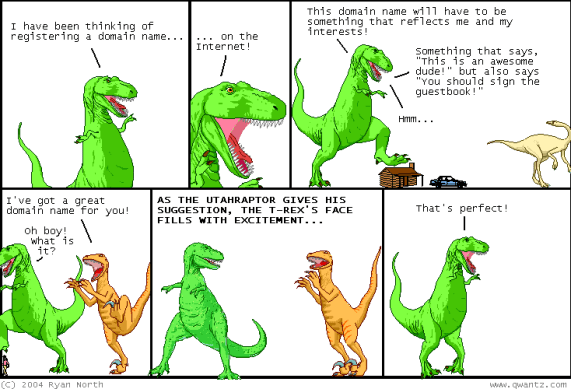 domain name (A Dinosaur Comic by Ryan North)