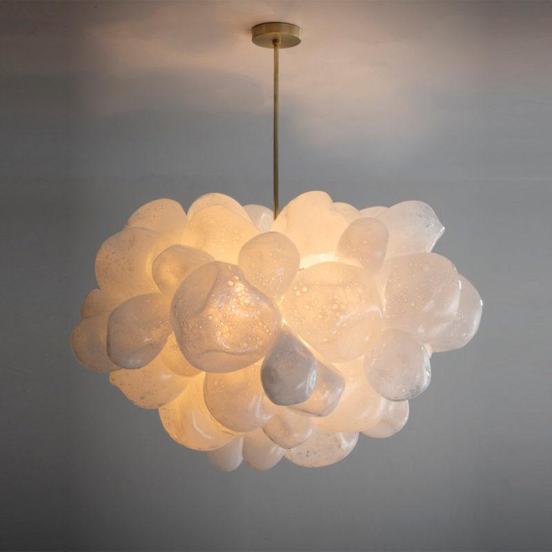 bubble cluster illuminated sculpture