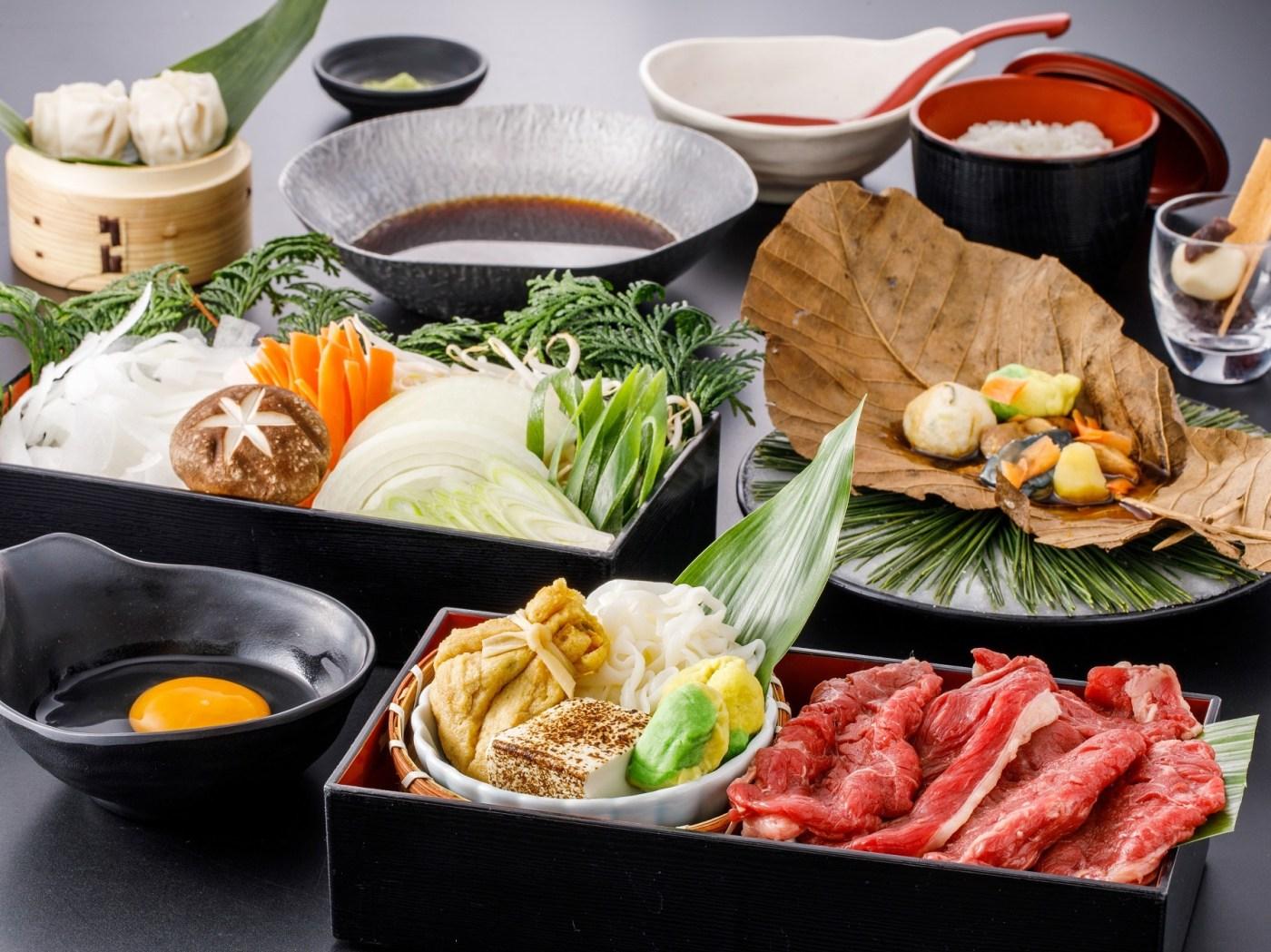 京野菜と牛肉のすき焼き膳