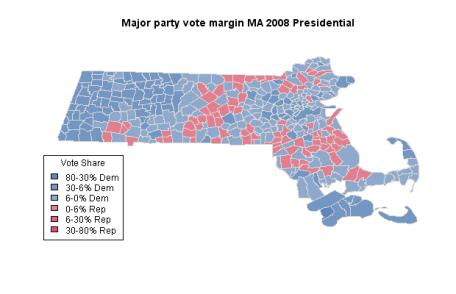 MA 2008 Presidential results