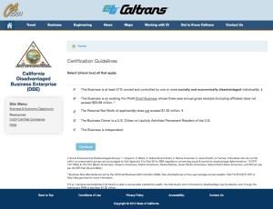 CalTrans_DBE eligibility