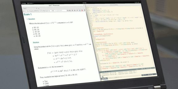 Mathematical Notation in Online R/exams