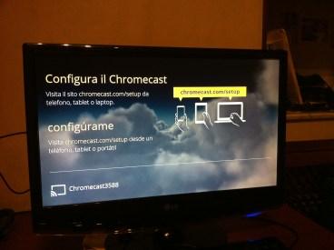 Configurazione Chromecast