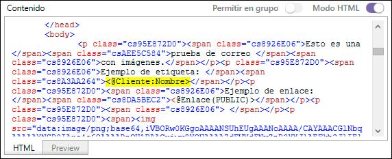 Modo HTML