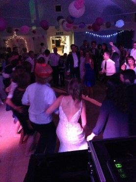 Wedding Guests Preparing for a Dance Off at Porthtowan Village Hall, Cornwall