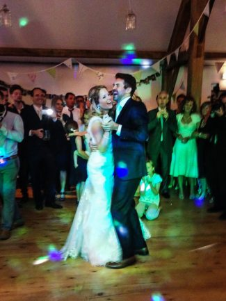 It's all Laughter & Happiness for the Newlyweds During Their First Dance at Nancarrow Farm, Cornwall