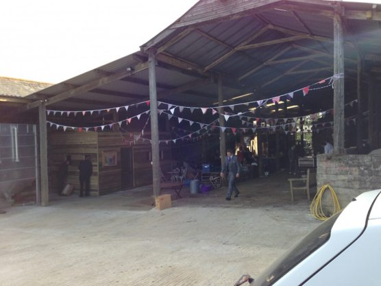 Private Barn Wedding View from Outside the Venue, Cornwall