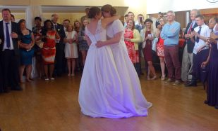 First Dance, Aby and Moya Penryn Rugby Club, August 2015