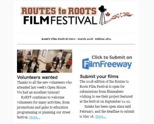 R2RFF Newsletter