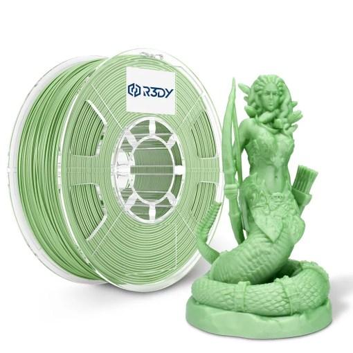 Filamento 3D Verde Claro Metálico