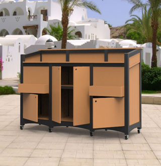 Commercial Outdoor Bars Portable with Lockable Storage on Portable Backyard Bar id=82442